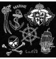 Marine design elements vector image