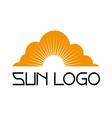Sun logo template set icon vector image