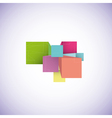3d cubes vector image vector image