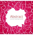 Abstract background with hole and cuts vector image vector image
