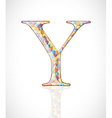 Abstract letter Y vector image