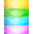 Abstract shiny template banner vector image