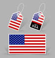American flag and tags vector image vector image