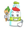 artist liquid soap in the character bottles vector image