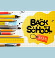 back to school sale design with pencils and vector image vector image
