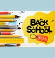 back to school sale design with pencils vector image vector image