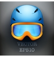 Background of Classic Ski helmet and orange vector image vector image
