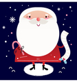 Beautiful cute Santa with delivery note vector image vector image