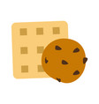 biscuits cracker cookie icon image vector image vector image