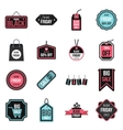 Black Friday icons set flat style vector image vector image