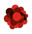 Blood cells flat icon vector image vector image