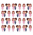 boy kissing girl valentine pattern vector image