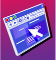 browser window operating system user interface vector image