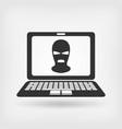 burglar in mask hacker concept vector image vector image