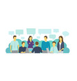 business people office at the table office vector image