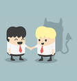 Businessman Handshake impostor vector image vector image