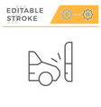 car accident editable stroke line icon vector image