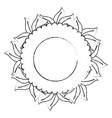 circular frame with leaves icon vector image vector image