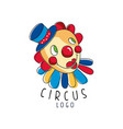 circus logo original design creative badge with vector image vector image