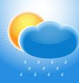 Cloud sun and rain vector image vector image