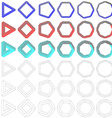 Collection of impossible Penrose polygons vector image vector image