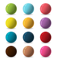 Color Balls Diverse Reflect Different vector image