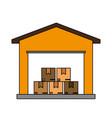 color image cartoon storage cellar with multiple vector image