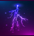 colorful lightning thunder storm and vector image vector image