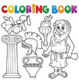 coloring book greek theme 1 vector image vector image