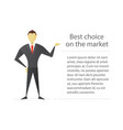 confident businessman flat character design vector image