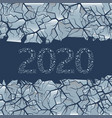 cracked ice 2020 figures vector image vector image