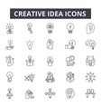 creative idea line icons for web and mobile design vector image vector image