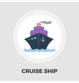 Cruise Ship Flat Icon vector image vector image