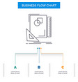 design layout page sketch sketching business flow vector image