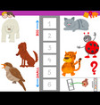 educational game with large and small animal