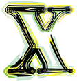 font letter x vector image vector image