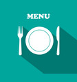 fork plate knife - icons lunch graphic vector image