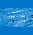 fractal river vector image vector image