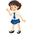 Girl in school dress vector image vector image