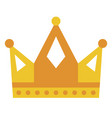golden yellow crown icon symbol vector image vector image