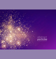 gradient banner golden particles vector image