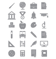 Gray school icons set vector image