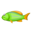 Green fish icon cartoon style vector image vector image