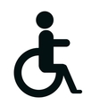Handicap sign in black and white colors design vector image