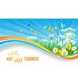 hot summer banner vector image vector image