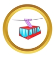 Istanbul tram icon vector image vector image