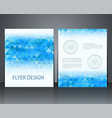 layout business flyer magazine cover or vector image