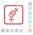 lesbian love symbol icon rubber watermark vector image vector image
