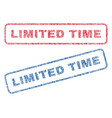 limited time textile stamps vector image vector image