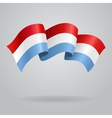 Luxembourg waving Flag vector image